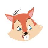 ícone dos desenhos animados da porca do esquilo Foto de Stock Royalty Free