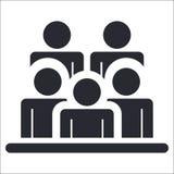 Ícone dos espectadores Foto de Stock