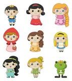 Ícone dos povos da história dos desenhos animados Fotografia de Stock Royalty Free