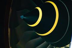 Cone e lâminas do motor de Turbofan Imagens de Stock Royalty Free