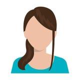 Ícone executivo novo do perfil da mulher Imagem de Stock
