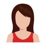 Ícone executivo novo do perfil da mulher Fotos de Stock