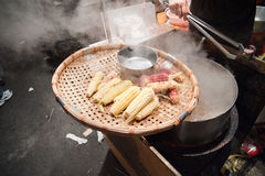 Cone food IN TAIWAN NIGHT MARKET Stock Photography