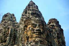 Cone head. Pointy headed spire of bayon temple angkor cambodia Stock Images