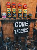 Cone incense. Renaissance festival day Royalty Free Stock Images