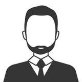 Ícone isolado do homem de negócios perfil executivo Fotos de Stock