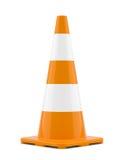 Cone isolado do tráfego Imagens de Stock