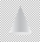 Cone isolated on transparent background. cone sign. 3d cone basic shape vector illustration
