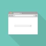 Ícone liso do navegador Fotografia de Stock