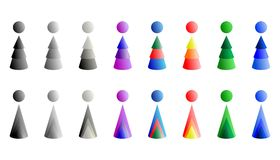 Cone logos - cdr format Stock Photo