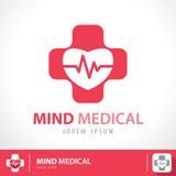 Ícone médico do símbolo da mente Fotografia de Stock Royalty Free
