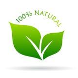 ícone 100 natural Imagens de Stock