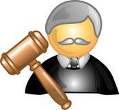 Ícone ou símbolo da carreira do juiz Imagem de Stock