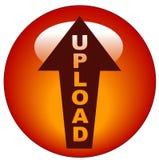 Ícone ou tecla da transferência de arquivo pela rede Imagem de Stock Royalty Free