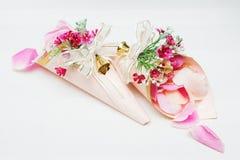 Cone paper roses wedding. Stock Photos