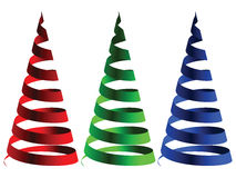 Cone rgb ribbons Royalty Free Stock Photography