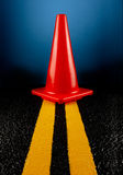 Cone on road Royalty Free Stock Images