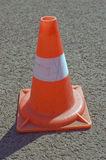 Cone on a road. Warning road mark on a road Stock Image