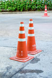 Cone rubber. Traffic cone,isolated - traffic cone on a white background - Traffic cone for road works isolated on white background Stock Photography