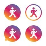 Ícone running do sinal Símbolo humano do esporte Fotografia de Stock Royalty Free