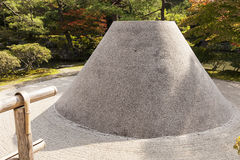 Cone Of Sand In Zen Garden Royalty Free Stock Photos