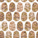 Cone seamless pattern. Endless background with colored cones. Vector illustration Royalty Free Stock Photos