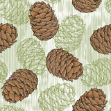 Cone seamless pattern. Endless background with cones. Vector illustration Royalty Free Stock Photos