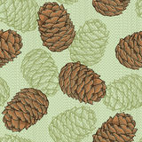 Cone seamless pattern. Endless background with cones. Vector illustration Royalty Free Stock Image