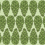 Cone seamless pattern. Ess background with green cones. Vector illustration Royalty Free Stock Image