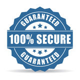 ícone 100 seguro Fotografia de Stock Royalty Free