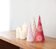 Cone shape Christmas decoration Royalty Free Stock Images