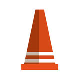 Cone signal construction icon Stock Photos