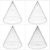 Cone From The Simple To The Complicated Shape Vect Royalty Free Stock Images