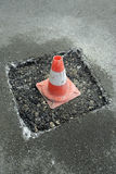 Cone on street Stock Photography