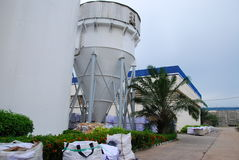 Cone tank in paper factory. This is cone tank in paper factory.this place isin east of thailand Stock Image