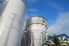 Cone tank in paper factory. This is cone tank in paper factory.this place isin east of thailand Royalty Free Stock Photo