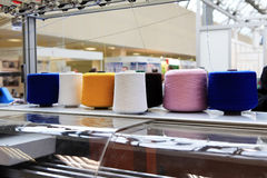 cone threads from textile factory Stock Photos