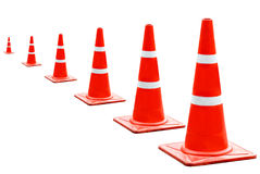 A cone to put the  road Royalty Free Stock Photos