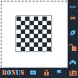 ?cone vazio da placa de xadrez horizontalmente ilustração stock