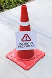 Cone of warning Royalty Free Stock Photos
