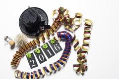 Conecpt für guten Rutsch ins Neue Jahr 2016 auf weißem Hintergrund Lizenzfreies Stockfoto