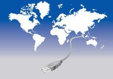 Conectando o mundo Imagem de Stock Royalty Free