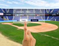 Conectate and bet on baseball Royalty Free Stock Image