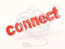 Conecte Imagen de archivo libre de regalías