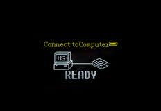 Conecte ao computador Fotografia de Stock Royalty Free