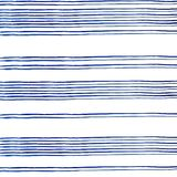 Conecte blue stripes of watercolor paint on white background vector illustration