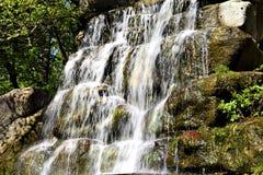 Conecte a cachoeira no parque dendrological em Uman imagens de stock royalty free