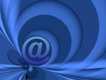 Conecte con el azul Foto de archivo