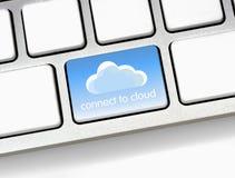 Conecte con la nube imagen de archivo libre de regalías