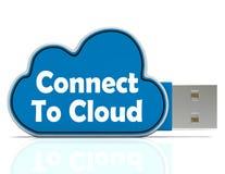 Conecte con los medios del Memory Stick de la nube en línea Imagenes de archivo
